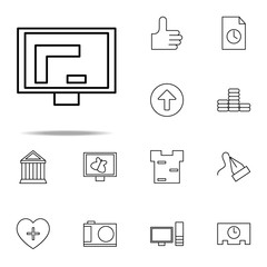 graphic design in monitor icon. Web icons universal set for web and mobile