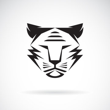 Vector of tiger face design on white background. Wild Animals. Tiger logo or icon. Easy editable layered vector illustration.