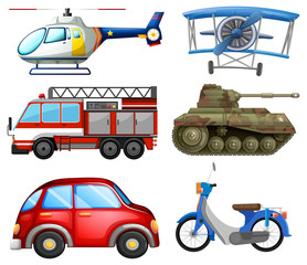 Set of transport objects