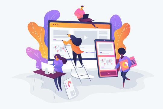 Web design development concept vector illustration