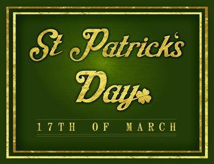 Saint Patrick's Day - Gold Border