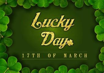 Luck Saint Patrick's Day - Clover Border