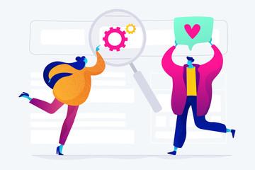 SEO analytics team concept vector illustration.