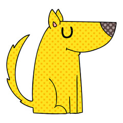 quirky comic book style cartoon dog