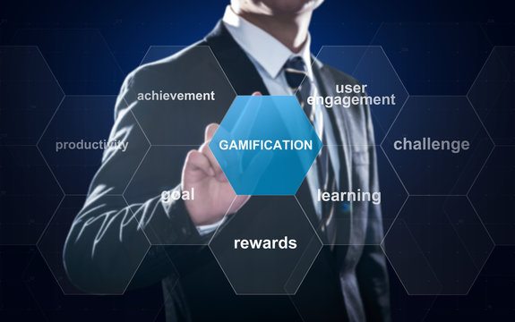 Gamification concept improves user engagement and motivation in business, marketing and education