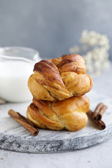 cinnamon buns, traditional Swedish baking