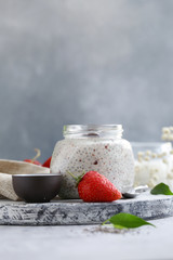 chia pudding with berries for a healthy diet