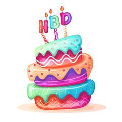 birthday cake. vector