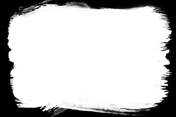 Grunge Decorative Black & White Photo Frame. Type Text Inside, Use as Overlay or for Layer / Clipping Mask