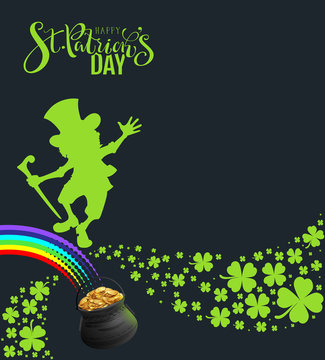 St. Patricks Day banner template poster for party