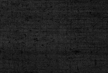 Black linen old fabric texture or background