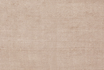 Brown linen old fabric texture or background.