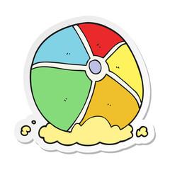 sticker of a cartoon beach ball
