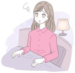 若い女性 夜 不安