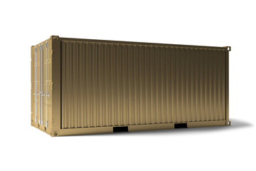 Mock up of a container on a dock - 3d rendering