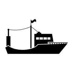 Fishing boat icon in trendy isolated on white background. vector illustration, EPS 10. vector