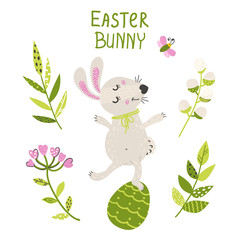 Easter card with a bunny