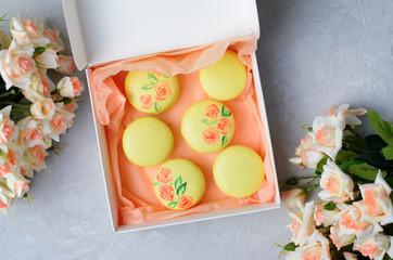 Macarons Gift Set, Handmade Sweets, French Dessert