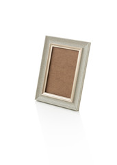 Space picture frame on isolated white background