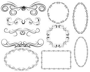 Set of dborders, framesecorative florish dividers,