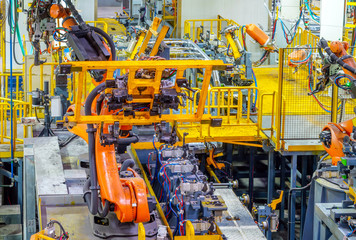 Car production line of the robot