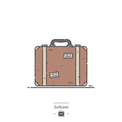 Suitcase - Line color icon