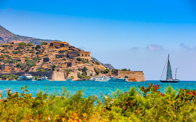 The island fortress of Spinalonga, Crete, Greece