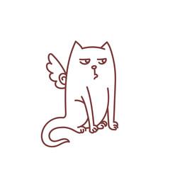 Not impressed angel cat