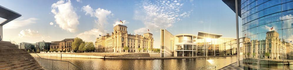 Berlin government center panorama