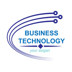 Simple logo for business technology company