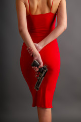 red girl gun