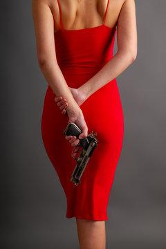 red girl gun