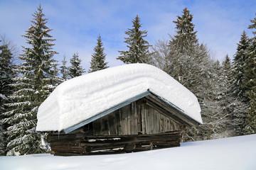 Allgäu - Hütte - Stadel - Scnee - Winter