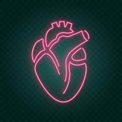 Garden Poster Retro sign real heart neon sign