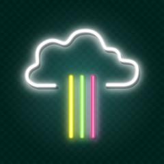 Garden Poster Retro sign rainbow neon sign