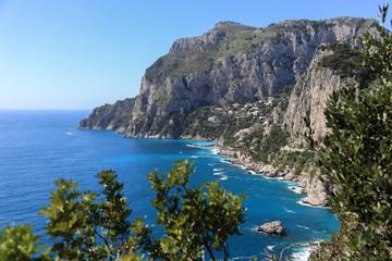 Capri Amalfi Küste: Der Monte Solaro und das Dorf Anacapri auf der Insel Capri