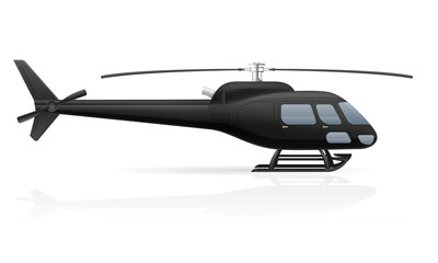 civilian passenger helicopter vector illustration