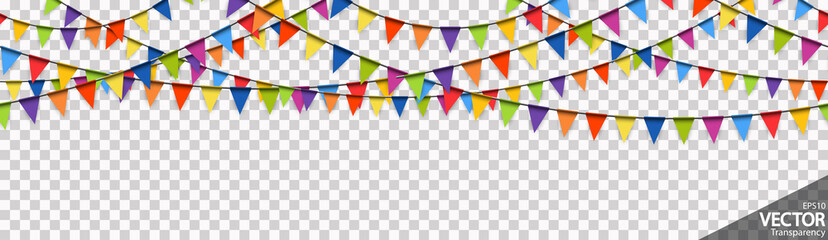 seamless colored garlands party background Fototapete