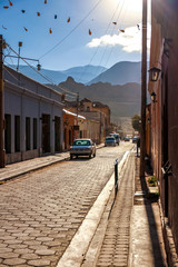 Historic architecture in Tilcara, Argentina