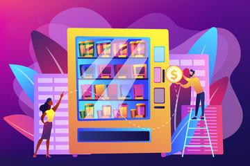 Vending machine service concept vector illustration.