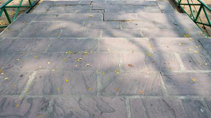 Wall Mural - view  stone floor in the garden