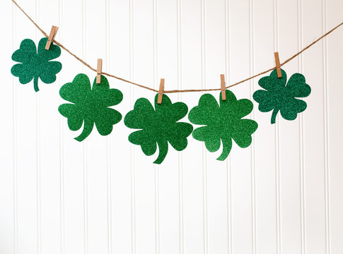 St. Patrick's Day theme with ornaments and decorations