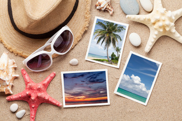Travel vacation accessories and photos