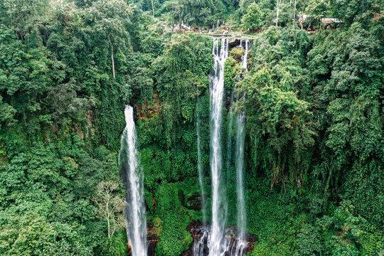 Bali waterfall Sekumpul, aerial view, north Bali, Indonesia