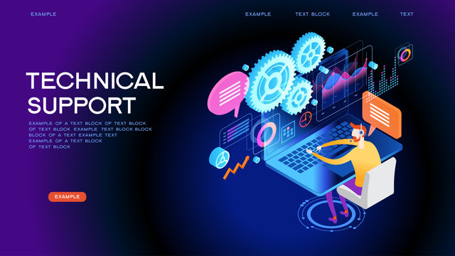 Technical support concept for web banner