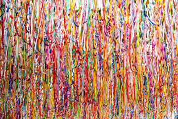 abstract colorful ribbon rainbow on ceiling background