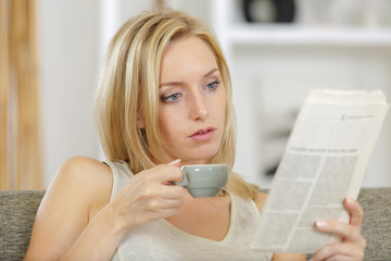 morning routine with coffee and newspapers