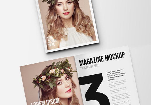 Open and Closed Magazine Mockup