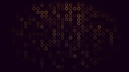 black background with glow can be  used for  business, technology, presentation background  abstract