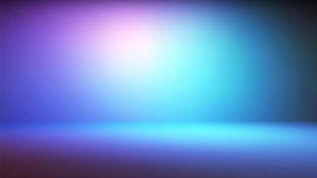 Colorful neon gradient studio backdrop with empty space for your content